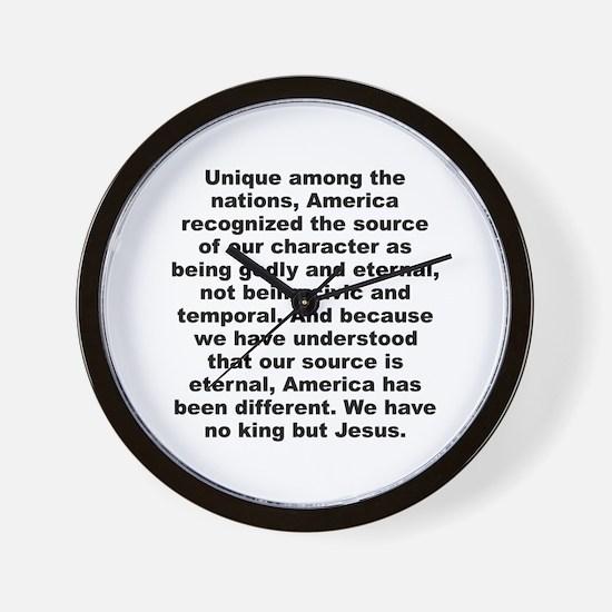 Anti jews for jesus Wall Clock