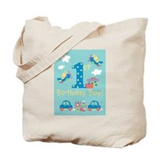 1st Birthday - Planes, Trains, & Cars Tote Bag