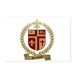 ROBILLARD Family Crest Postcards (Package of 8)