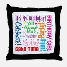 It's My Birthday Throw Pillow