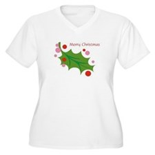 Festive Christmas Leaf T-Shirt