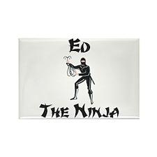Ed - The Ninja Rectangle Magnet