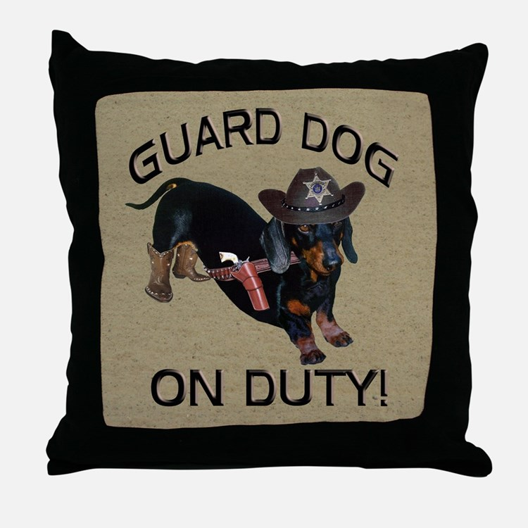 Helaine's Guard Dog Throw Pillow