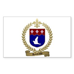 ROBITAILLE Family Crest Rectangle Decal