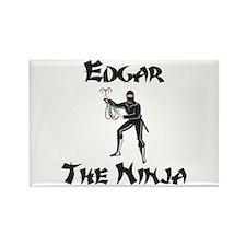 Edgar - The Ninja Rectangle Magnet