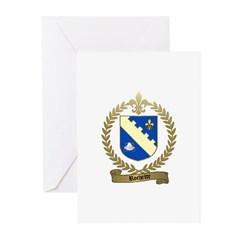 ROCHETTE Family Crest Greeting Cards (Pk of 10