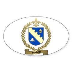 ROCHETTE Family Crest Oval Decal