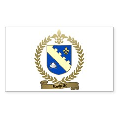 ROCHETTE Family Crest Rectangle Decal
