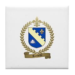 ROCHETTE Family Crest Tile Coaster