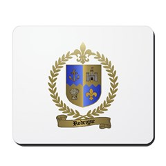 RODRIGUE Family Crest Mousepad