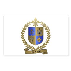 RODRIGUE Family Crest Rectangle Decal