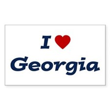 I HEART GEORGIA Rectangle Decal