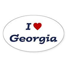 I HEART GEORGIA Oval Decal