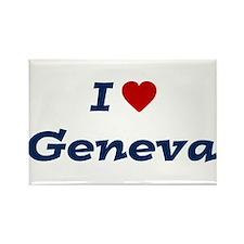 I HEART GENEVA Rectangle Magnet