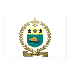 ROMPRE Family Crest Postcards (Package of 8)