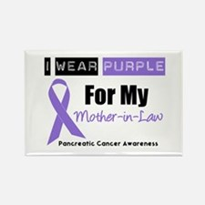 I Wear Purple (MIL) Rectangle Magnet