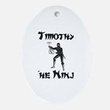 Timothy - The Ninja Oval Ornament