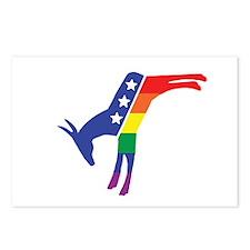 Gay Pride Dem Donkeys Postcards (Package of 8)
