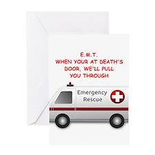 emt emergency medical technic Greeting Card