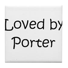 Cute Porter Tile Coaster