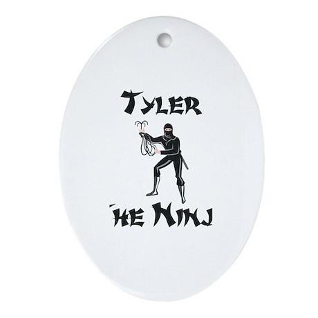 Tyler - The Ninja Oval Ornament