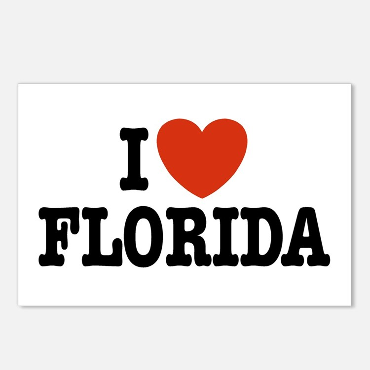 I Love Florida Postcards (Package of 8)