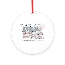 Barack Obama 44th President Ornament (Round)