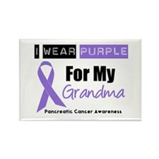 I Wear Purple (Grandma) Rectangle Magnet