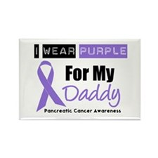 I Wear Purple For My Daddy Rectangle Magnet