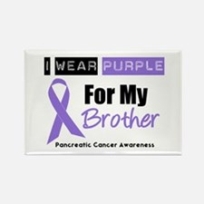 I Wear Purple Brother Rectangle Magnet