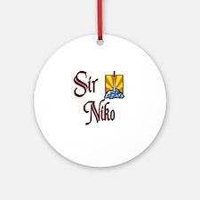Sir Niko Ornament (Round)