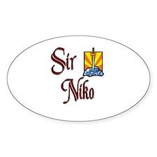Sir Niko Oval Decal
