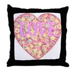Pretty in Pink LOVE Throw Pillow