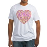 Pretty in Pink LOVE Fitted T-Shirt