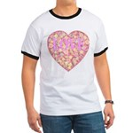 Pretty in Pink LOVE Ringer T