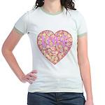 Pretty in Pink LOVE Jr. Ringer T-Shirt