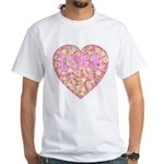 Pretty in Pink LOVE White T-Shirt