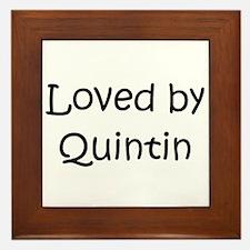 Cute Quintin Framed Tile