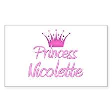 Princess Nicolette Rectangle Decal