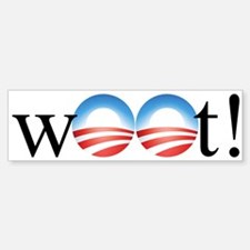 Obama w00t! Bumper Bumper Bumper Sticker