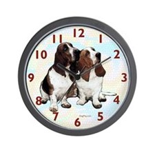Basset Hounds Wall Clock