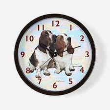 Basset Hounds Wall Clock