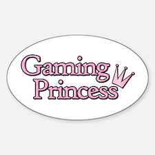 Gaming Princess Oval Decal