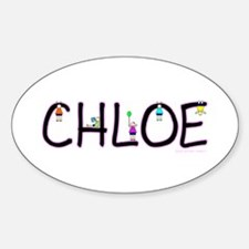 Chloe (Girl) Oval Decal