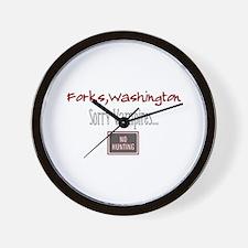 No Hunting Wall Clock