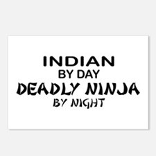 Indian Deadly Ninja by Night Postcards (Package of