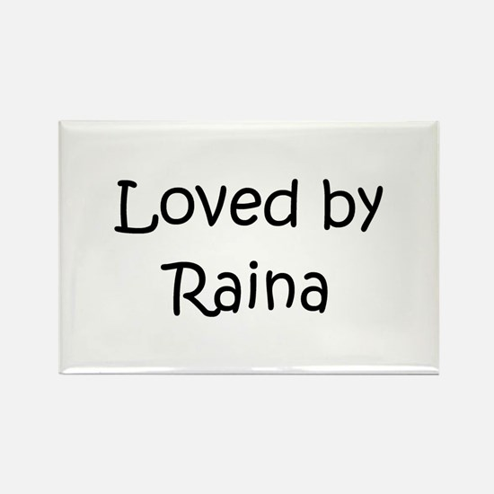 Funny Raina Rectangle Magnet