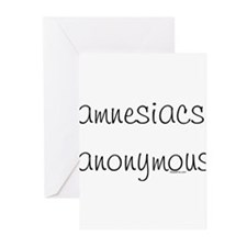 Amnesiacs anonymous Greeting Cards (Pk of 10)