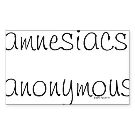 Amnesiacs anonymous Rectangle Sticker