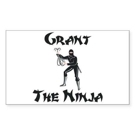 Grant - The Ninja Rectangle Sticker